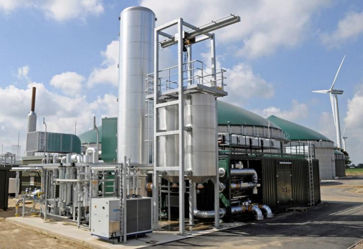 Una centrale a biometano in Germania