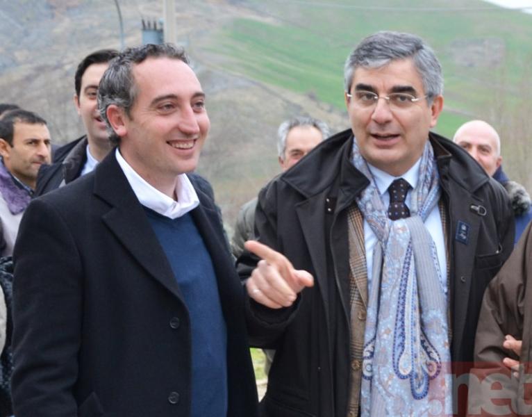 Carlo Racciatti con Luciano D'Alfonso