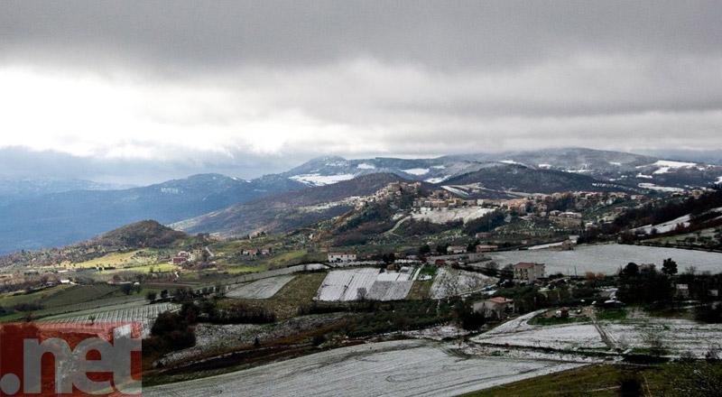Una veduta della valle del Trigno