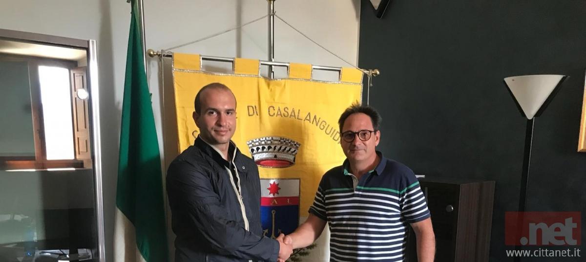 Il sindaco Luca Conti presenta il nuovo medico di base, dott. Gino Malatesta